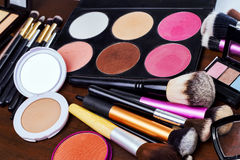 Makeup tools Royalty Free Stock Photography