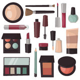 Makeup tools  vector illustration. Royalty Free Stock Photography