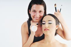 Makeup treatment Royalty Free Stock Images