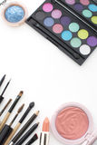 2016 makeup trends,smoky and peachy Stock Photography