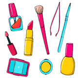 Makeup vector tools and accessories Stock Image
