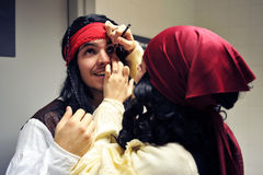 Makeup w Carnaval Cadiz, Andalusia, Hiszpania zdjęcia royalty free