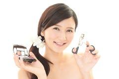 Makeup woman Stock Photo