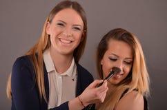 Makeup zabawa Zdjęcia Royalty Free