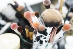 Makeupborstar Arkivbild