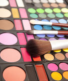 Makeupborstar Arkivfoto