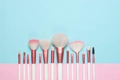 Makeupborsteuppsättning royaltyfri foto