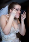 makeupbröllop Royaltyfri Bild