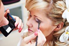 Makeupbrud Arkivbild
