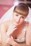 Makeupbrudbröllop Royaltyfri Fotografi