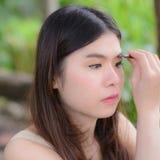 Makeupflicka Royaltyfri Foto