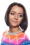 Makeupkonstnär med borstar i hand Royaltyfria Foton
