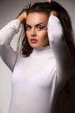 makeupkvinna arkivfoto