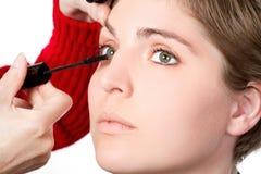 makeupkvinnabarn Royaltyfria Foton