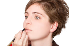 makeupkvinnabarn Arkivfoton