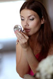 makeupmorgon Arkivfoto