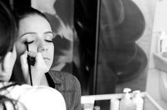 Makeupprofessionell Arkivbilder