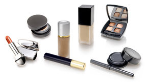 Makeups and cosmetics selection Stock Photos