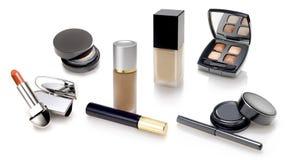 Makeups y selección de los cosméticos fotos de archivo