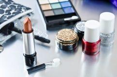 Makeupsats Fotografering för Bildbyråer