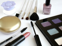 makeupset arkivfoto