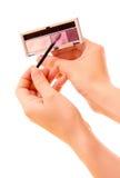 makeupset för färger fyra Royaltyfria Foton