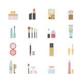 Makeupsymboler royaltyfri illustrationer
