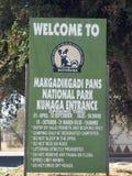 Makgadikgadi filtra el parque nacional Fotografía de archivo libre de regalías