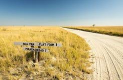 Makgadikgadi Pan Sign Royalty Free Stock Photos