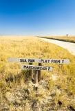 Makgadikgadi Pan Sign Royalty Free Stock Image