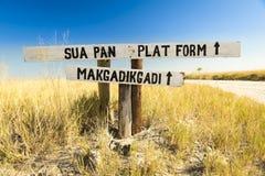 Makgadikgadi Pan Sign Stock Photography