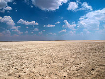 Makgadikgadi salt pans Stock Photography