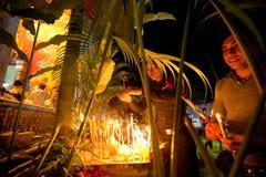 Makha Bucha ceremony on Ko Chang island Royalty Free Stock Images