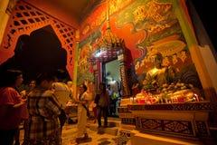 Makha Bucha ceremony in Thailand Royalty Free Stock Photo