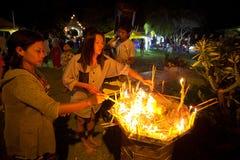 Makha Bucha ceremony in Thailand Royalty Free Stock Photography