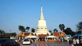 Makha Bucha Day at Thai temple Wat Phra Sri stock video