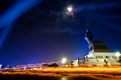 Makha Bucha Day in Thailand. Stock Image