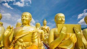 Makha Bucha Memorial Park buddista, Nakhon Nayok stock footage