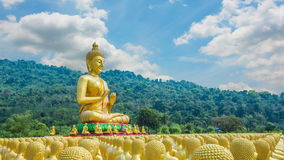 Makha Bucha Memorial Park buddista, Nakhon Nayok, stock footage