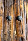 Makhaa drewna drzwi Zdjęcie Stock