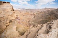 Makhtesh Gadol (den stora krater) - Negev, Israel Royaltyfri Foto