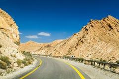 Makhtesh Gadol, droga w pustynia negew, Izrael Fotografia Royalty Free
