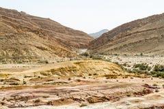 The Makhtesh Gadol in Negev desert, Israel Royalty Free Stock Photos
