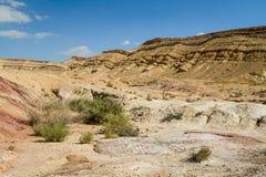 The Makhtesh Gadol in Negev desert, Israel Stock Images