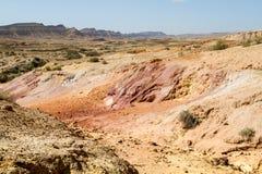 The Makhtesh Gadol in Negev desert, Israel Stock Photo