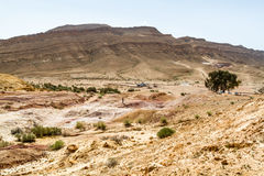 The Makhtesh Gadol in Negev desert, Israel Royalty Free Stock Photo