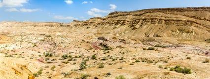 The Makhtesh Gadol in Negev desert, Israel Stock Photos