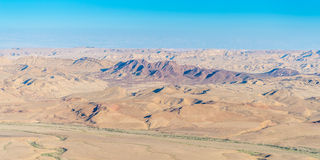 Makhtesh Ramon. Aerial view of negev desert at ramon area Stock Image
