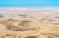 Makhtesh Ramon. Aerial view of negev desert at ramon area Royalty Free Stock Images