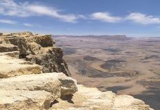 Makhtesh Ramon Crater dans les montagnes de Negev en Israël image libre de droits
